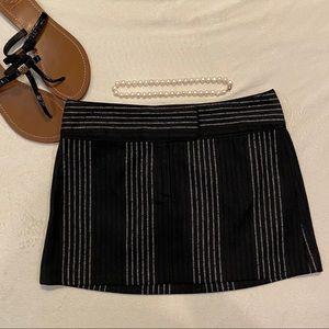 Alice + Olivia Striped Wool Mini Skirt